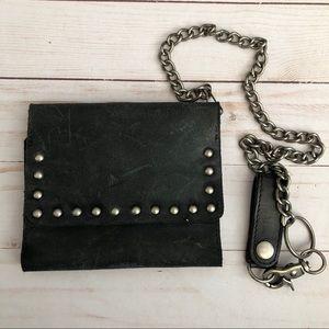 Bed Stu black leather wallet